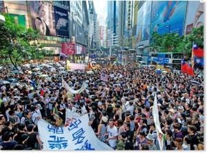 Protests continue to rise in Hong Kong. Stock Photos.