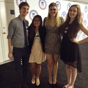 iPulse editors at the MTV EMA kickoff event earlier in the semester. LU Photo.