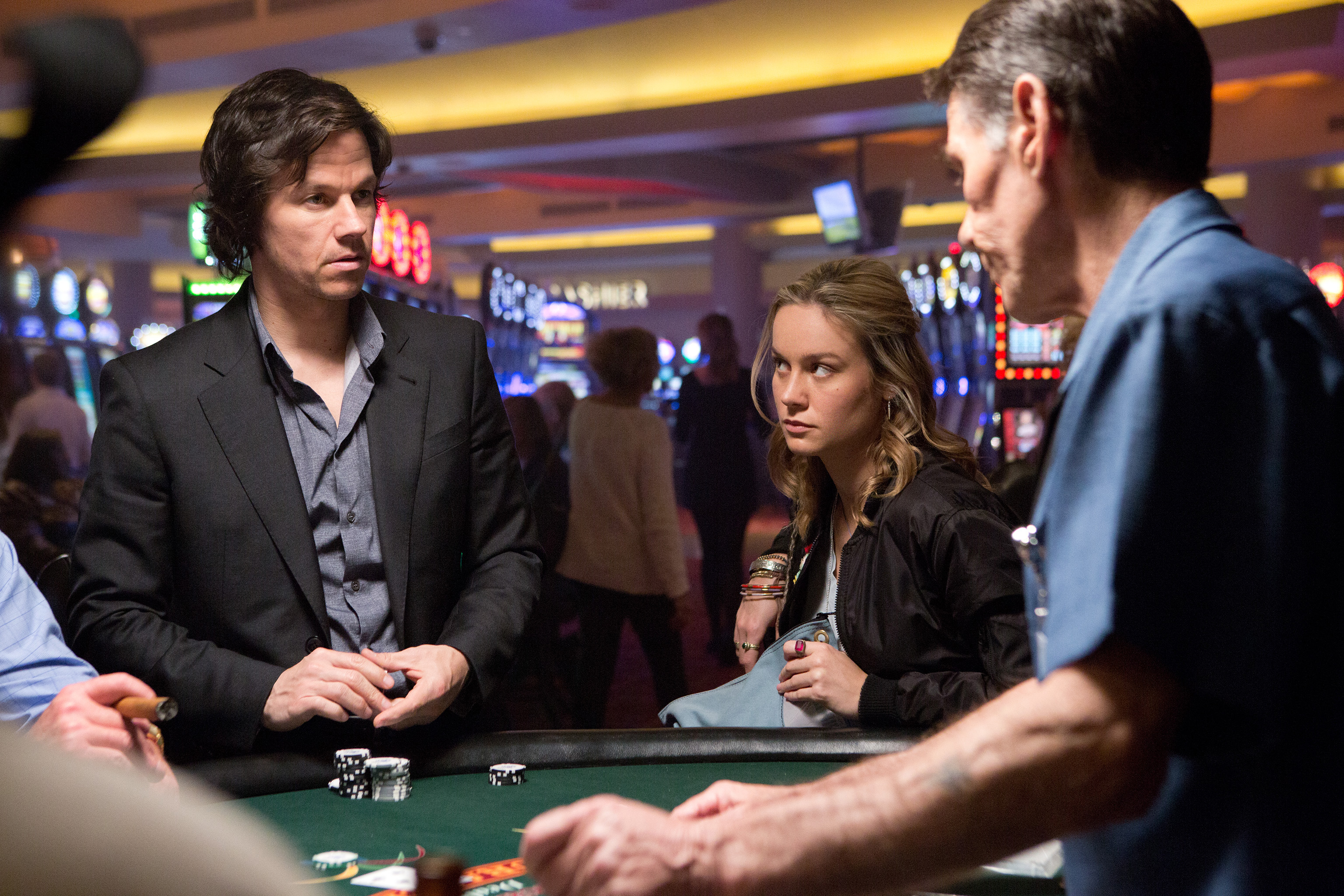 "Mark Wahlberg and Brie Larson star in the upcoming film, ""The Gambler."" Stock Photo."