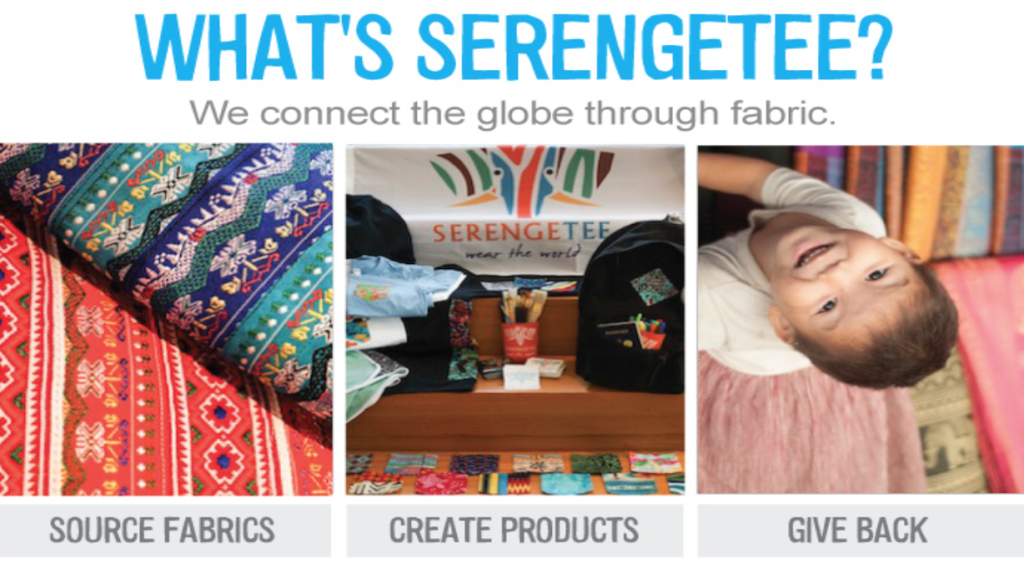 Above: Serengetee comes in many pattern choices. Stock Photo.