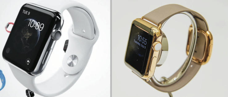 Above: Apple has now released more information regarding their new release of the Apple watches that will be hitting stores. Stock Photos.