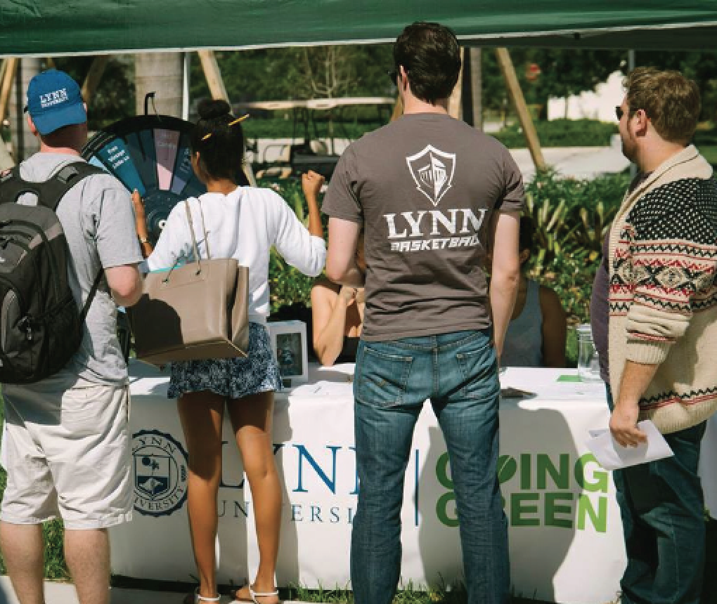Above: Lynn's campus continues to become a environmentally friendly university with new sustainability movements. LU Photo.