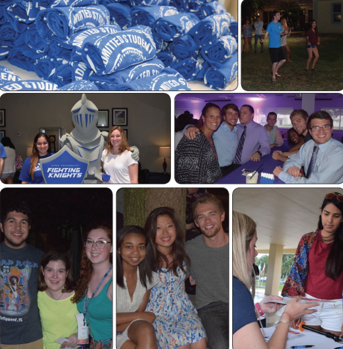 Above: Students enjoy a weekend full of fun with their Admitted Students. LU Photos.