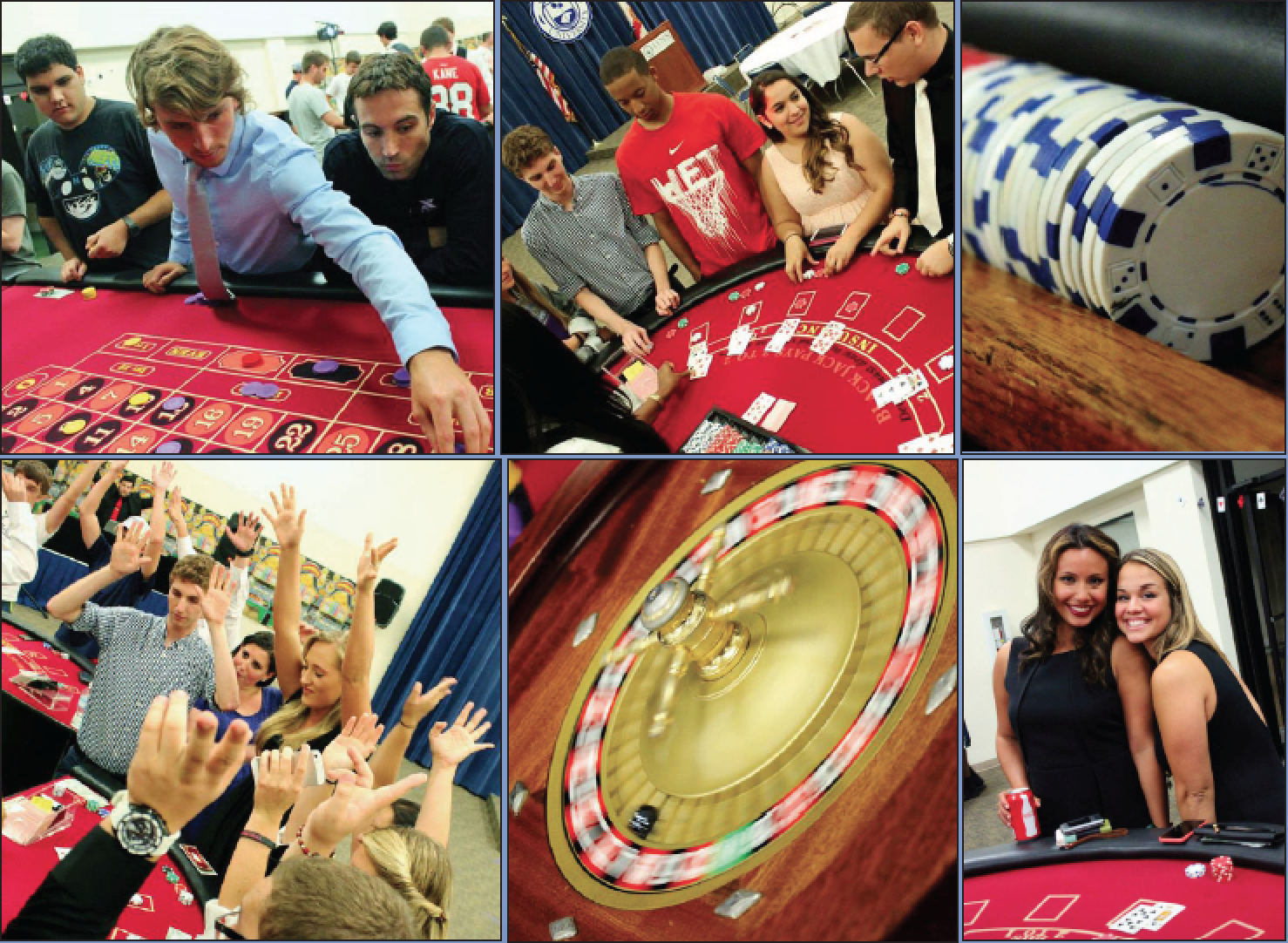 Above: The Casino Royale event was a hit last year and many students are excited to attend tonight's event. LU Photos/ J. Weissman.
