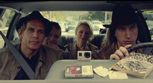 "Above: Ben Stiller, Naomi Watts, Adam Driver and Amanda Seyfried star in the film ""While We're Young."" Stock Photo."
