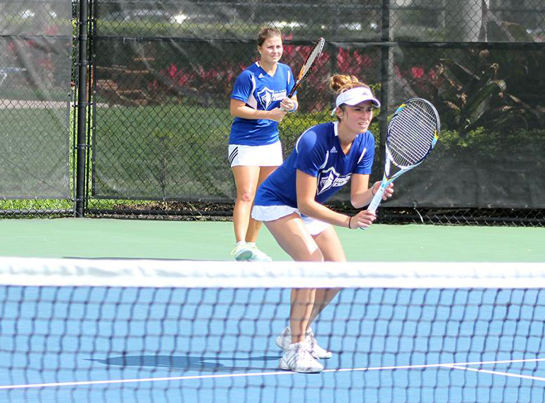 Above: The Women's Tennis team is fighting for the title of the NCAA Division II South Region Championship this season. LU Photo.