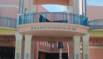 Above: The Boca Museum of Art showcases various beautiful paintings, sculptures and many more works of art. Stock Photo.