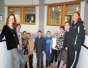 Above: Watson enjoys her time at Lynn with her students. LU Photo.
