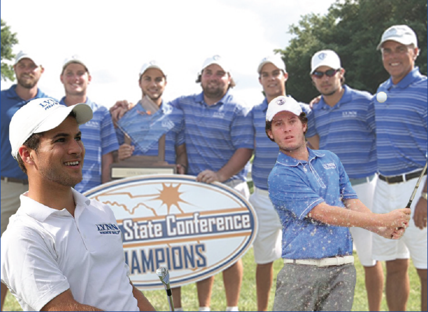 Above: The Men's Golf team wins yet another first place title at this year's Sunshine State Conference Championship. LU Photos.