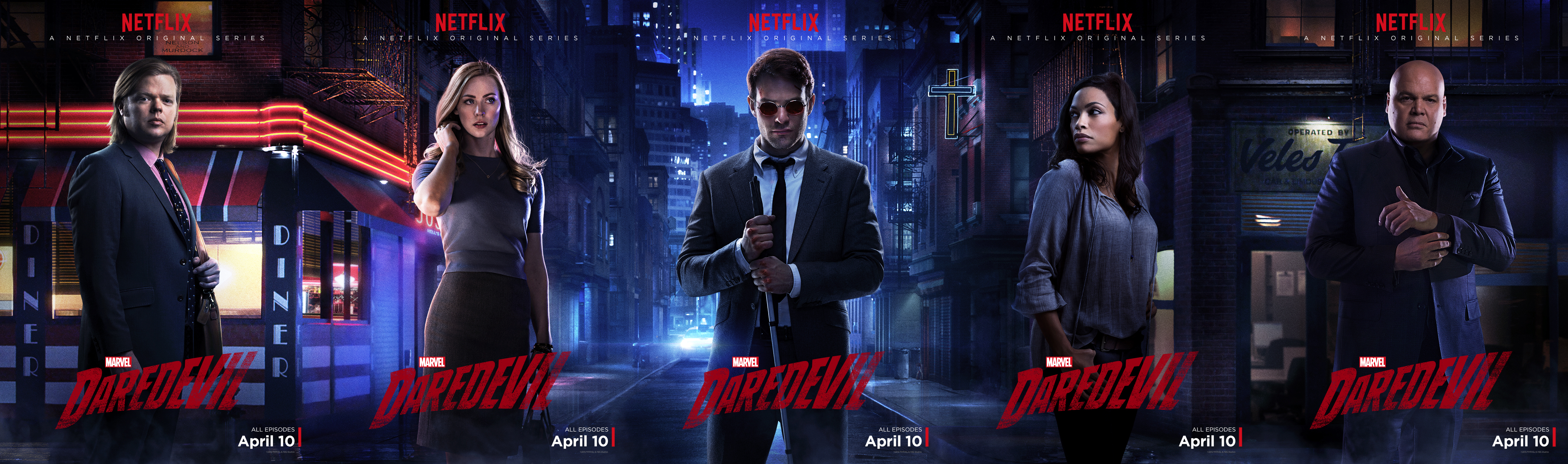 "Above: ""Daredevil,"" Netflix's new original series, has quickly ranked its way to the top and is becoming a fan favorite. Stock Photo."
