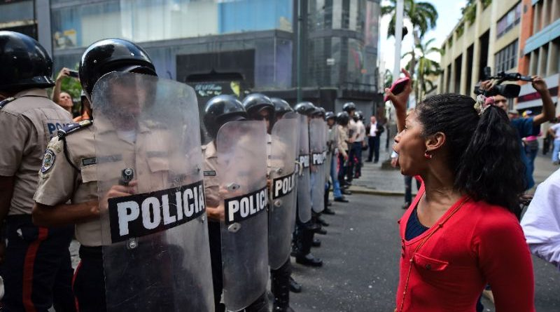 Protesting in Venezuela